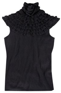 Ralph Lauren Black Cashmere Knit Label Ld Top