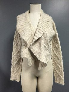 Ralph Lauren Wool Hand Knit Cropped Asymmetrical Cardigan Sma2102 Sweater