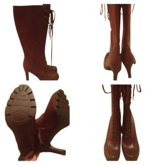 Ralph Lauren Dark Brown Product Size Code-8021213730sg\r\n\r\nfloraine Burnished Calf Boots/Booties Size Product US 9.5 ff066d