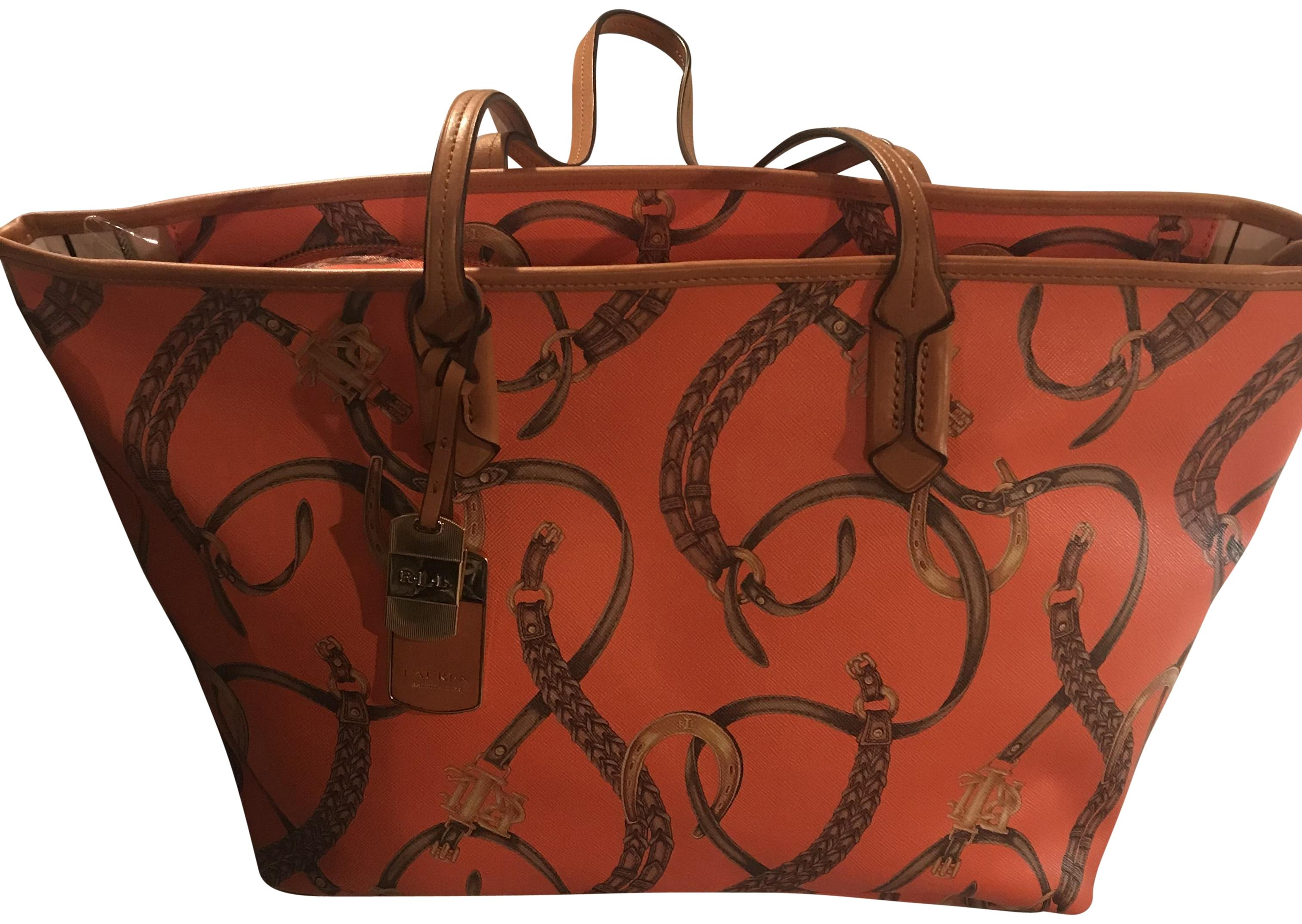 ... coupon for ralph lauren tote in orange tan 3bbf1 9c300 f1c1985322ec3