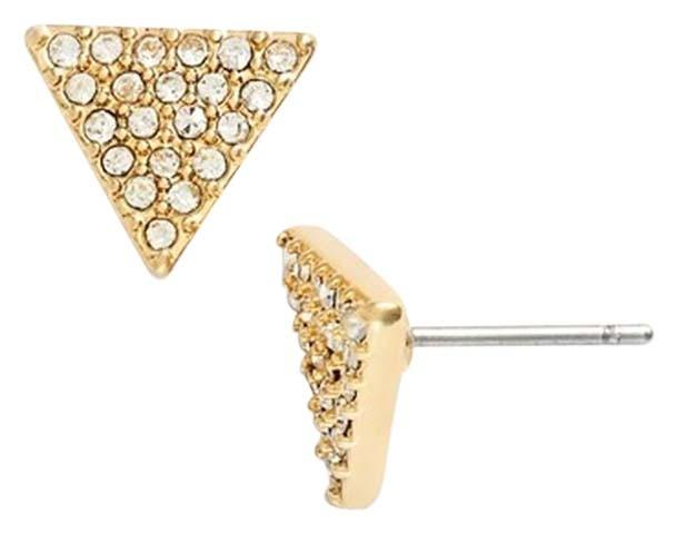 Ralph Lauren Rose Gold Crystal Pave Triangle Stud Tradesy