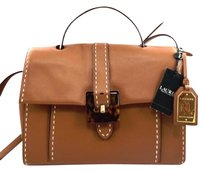 Ralph Lauren Heyworth Carson Satchel in Brown