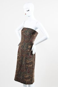 Ralph Lauren Brown Green Dress