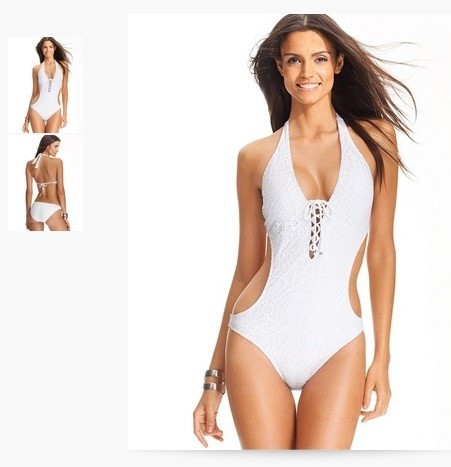 Ralph Lauren White Blue Label Lace-up Crochet Swimsuit One-piece Bathing  Suit Size 0 (XS) - Tradesy