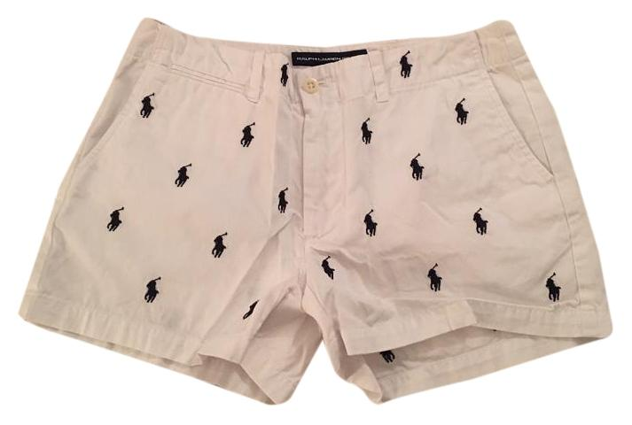 Ralph Lauren Polo Preppy Sport Dress Shorts White ...