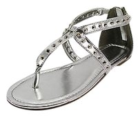 Rampage Good Womens Man Made Nbw silver Sandals