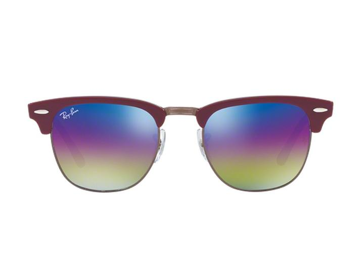 dc97d16bf0d7f Ray-Ban Bordeaux Red Gunmetal   Brown New Clubmaster Mineral Flash Rb3016  1222c2 Rainbow .