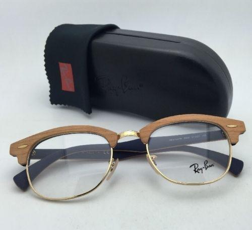 Ray-Ban New RAY-BAN CLUBMASTER WOOD Rx-able Eyeglasses RB 5154-M
