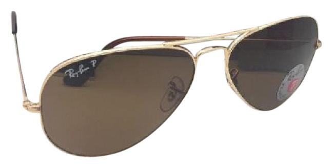 Rb3025 Aviator Large Metal 001/57 Gold Crystal Brown Polarized 62/14 140 JQbxe1qGGs