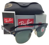 Ray-Ban Polarized Ray-Ban Sunglasses CLUBMASTER Black & Gold /Green