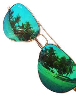 Ray-Ban Ray-Ban Green Reflective Aviators