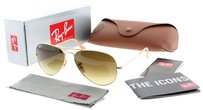 Ray-Ban Ray Ban RB 3025 112/85 Matte Gold W/ Brown Gradient Lens Aviator Sunglasses 58mm