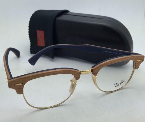 5d8b2cd8d2 ... reduced ray ban rb 5154 m 5559 cherry wood on blue frames new  clubmaster rx able