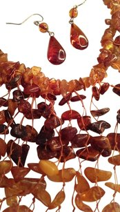 Real Amber necklace + earrings set bought in Italy Real Amber necklace + earrings set bought in Greece