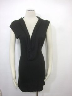 Rebecca Beeson short dress Black Cowl Draped Neckline Knit on Tradesy