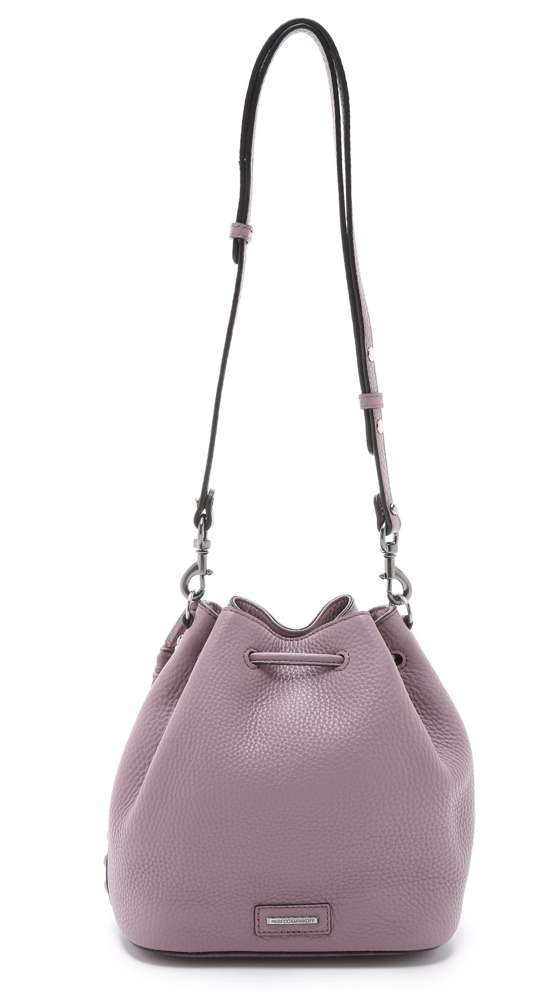 Rebecca Minkoff New Unlined Drawstring Bucket Antique Hardware ...