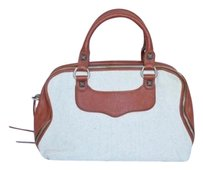 Rebecca Minkoff Canvas Leatherlove Spellhobo Satchel Handbag Hobo Bag