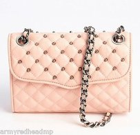 Rebecca Minkoff Peach Quilted Cross Body Bag