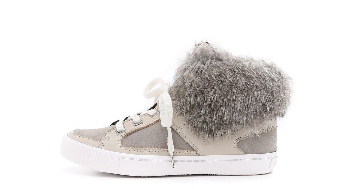 for nice online outlet extremely Rebecca Minkoff Fur-Trimmed High-Top Sneakers L9QTi