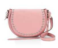 Rebecca Minkoff New With Silver Leather Edgy Pink Cross Body Bag