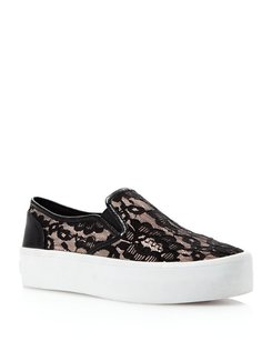 Rebecca Minkoff Sneaker Flat Lace Black Athletic