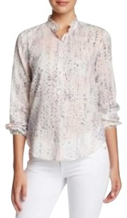 Rebecca Taylor Flame Forest Silk Blouse Button Down Shirt Multi