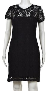 Rebecca Taylor Womens Floral Lace Above Knee Sheath Dress