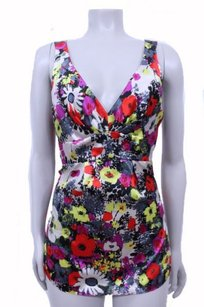 Rebecca Taylor Sleeveless Floral Silk Top Almond bright