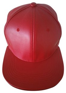 Red Leather Hat Red leather hat