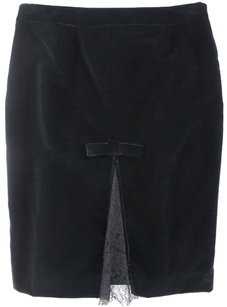RED Valentino 42 Black Pencil Yh Skirt