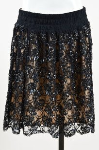 RED Valentino Nude Lace Skirt Black