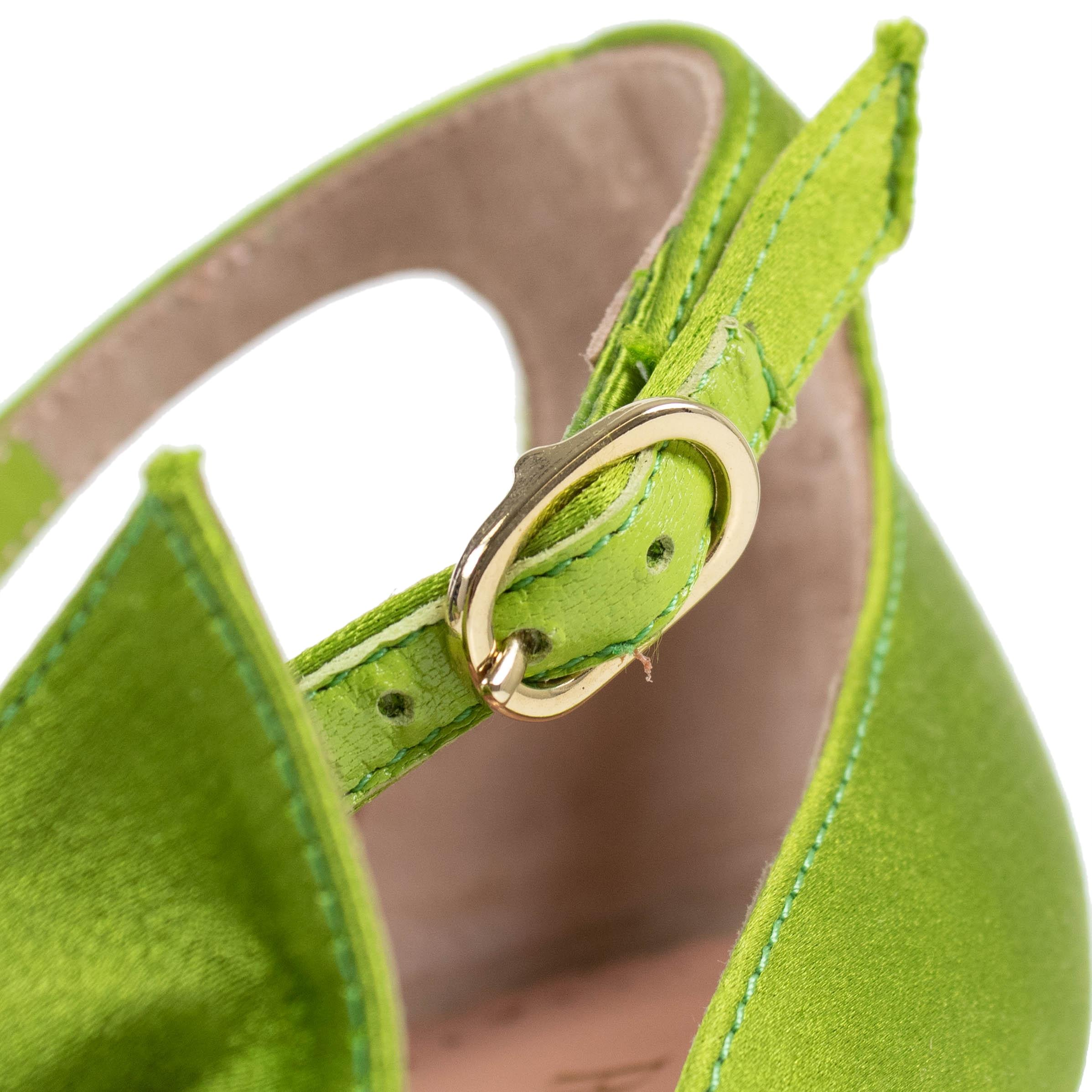 924ad5c4b306 ... RED Valentino Green Green Green With Bow Leather Pumps Size US 7 Regular  (M