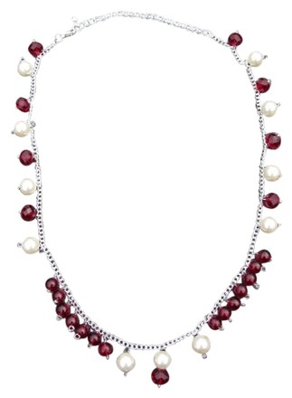 Preload https://item2.tradesy.com/images/red-white-princess-monoco-choker-faceted-ruby-crystal-beads-and-smooth-milky-pearl-beaded-chain-neck-3071491-0-0.jpg?width=440&height=440