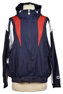 Reebok Classic Tyo Collection Womens Blue Wind Breaker Basic Navy, White, Red Jacket