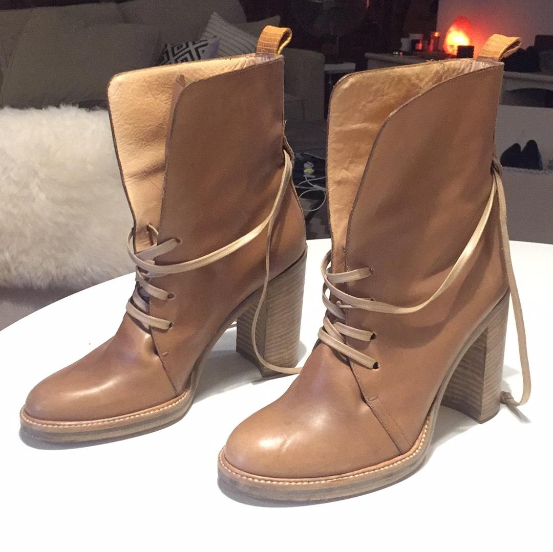 Reed Krakoff Leather Lace-Up Booties buy cheap affordable discount outlet store cheap sale 100% guaranteed sast online FeAtQbrh