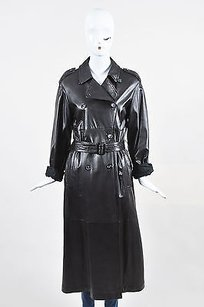 Ren Lezard Rene Leather Trench Coat