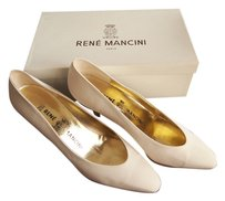 Ren Mancini White satin Pumps