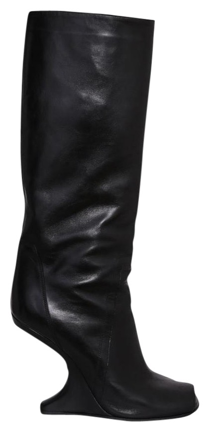 Rick Owens Peep-toe Leather Wedge Boots 353DUOA08D