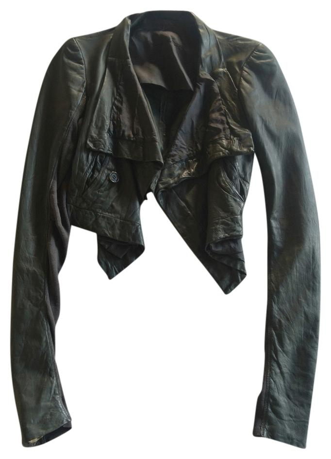Rick Owens Leather Leather Biker Motorcycle Jacket ...