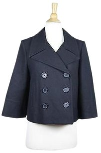 Robert Rodriguez Womens Textured 34 Sleeve Wool Blend Coat