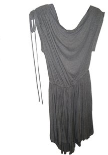 Robert Rodriguez short dress Gray Cowl Neck Ruched Draw String on Tradesy