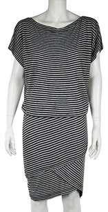 Robert Rodriguez short dress Charcoal, Gray Womens Gray Shirt Striped Batwing Sleeve on Tradesy