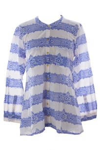 Roberta Roller Rabbit Womens Rrr_shirt_rrr4_lailashirt_blue_s Button Down Shirt