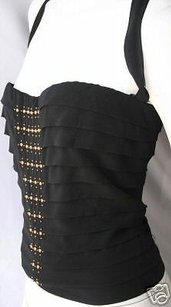 Roberto Cavalli Black Silk Top Blacks