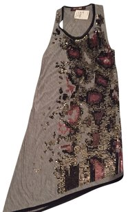 Roberto Cavalli Dressup Dress Down Top Grey with sequins