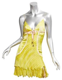 Roberto Cavalli short dress Chartreuse Womens on Tradesy