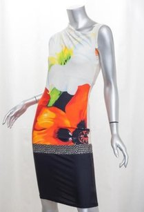 Roberto Cavalli short dress Multi-Color Womens White on Tradesy