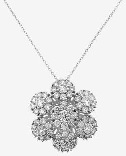 Roberto Coin ROBERTO COIN 18K WHITE GOLD SEVEN FLOWER DIAMOND NECKLACE