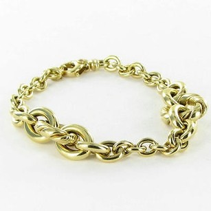 Roberto Coin Roberto Coin Bracelet Graduated Link Chain 18k Yellow Gold