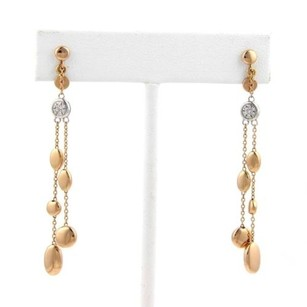 Roberto Coin Roberto Coin Diamond Pebble 18k Gold Dangle Earrings